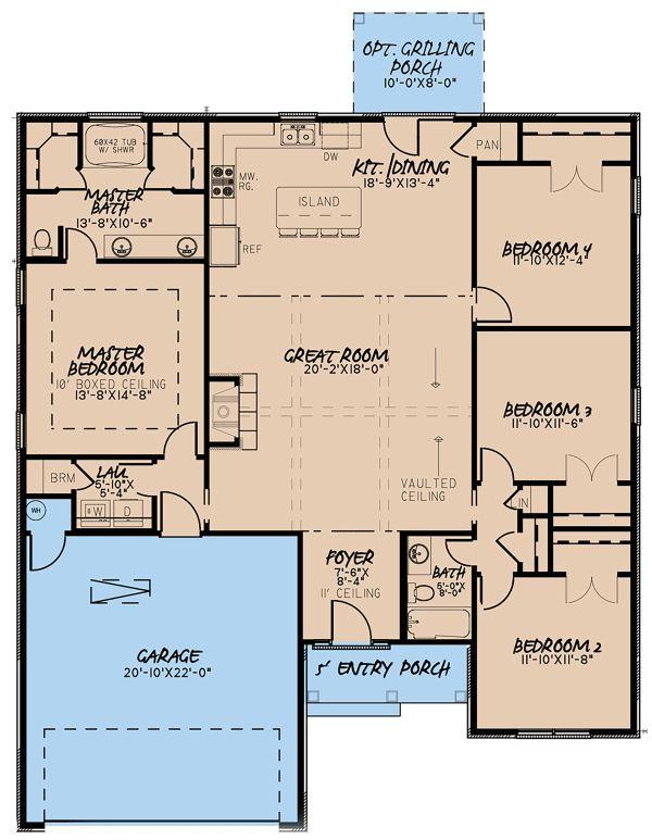 House Plan Design - European Floor Plan - Main Floor Plan #923-137