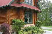 Log Style House Plan - 4 Beds 4.5 Baths 4885 Sq/Ft Plan #17-516 Photo