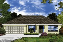 Home Plan - European Exterior - Front Elevation Plan #417-825