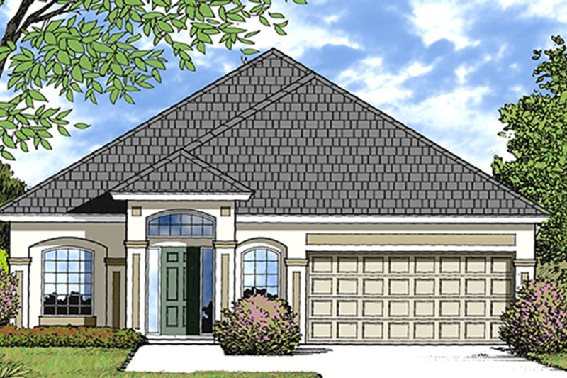 European Exterior - Front Elevation Plan #417-827 - Houseplans.com