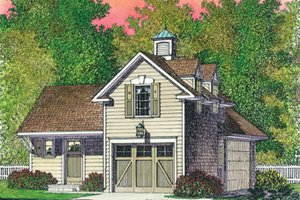 Colonial Exterior - Front Elevation Plan #1016-103