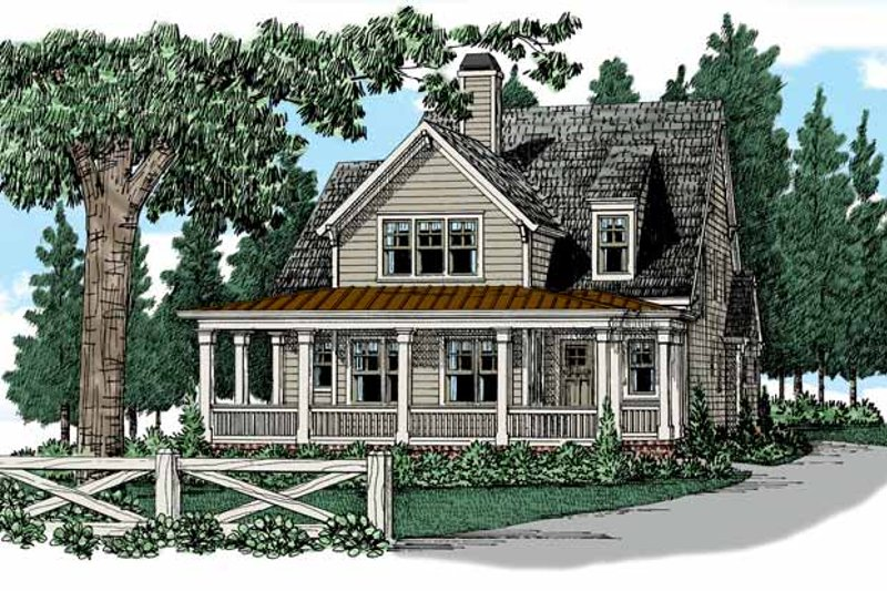 Colonial Exterior - Front Elevation Plan #927-944