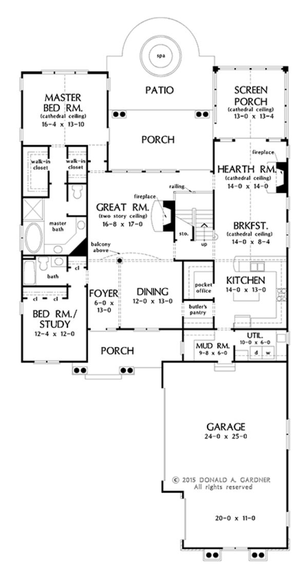 Traditional Floor Plan - Main Floor Plan Plan #929-1014