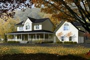 Farmhouse Style House Plan - 3 Beds 3.5 Baths 3062 Sq/Ft Plan #1-765 Exterior - Front Elevation