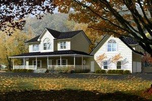 Farmhouse Exterior - Front Elevation Plan #1-765