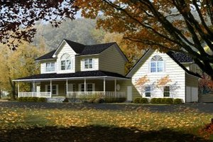 Home Plan - Farmhouse Exterior - Front Elevation Plan #1-765