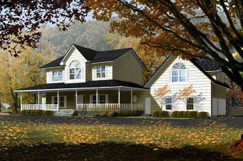 House Blueprint - Farmhouse Exterior - Front Elevation Plan #1-765