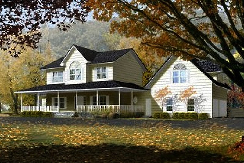 Home Plan - Farmhouse Exterior - Front Elevation Plan #1-765