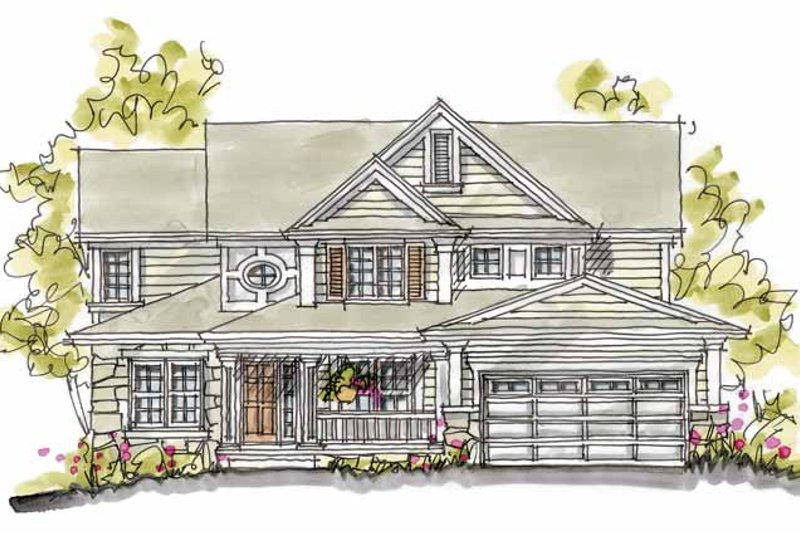 Home Plan - Traditional Exterior - Front Elevation Plan #20-2232