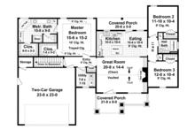 Ranch Floor Plan - Main Floor Plan Plan #21-428