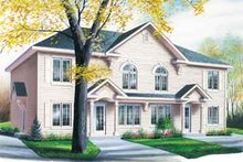 Southern Exterior - Front Elevation Plan #23-516