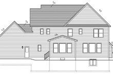 Colonial Exterior - Rear Elevation Plan #1010-95