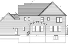 House Plan Design - Colonial Exterior - Rear Elevation Plan #1010-95