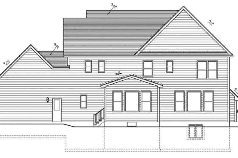 Colonial Exterior - Rear Elevation Plan #1010-95 - Houseplans.com