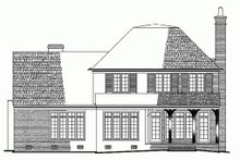 European Exterior - Rear Elevation Plan #137-137