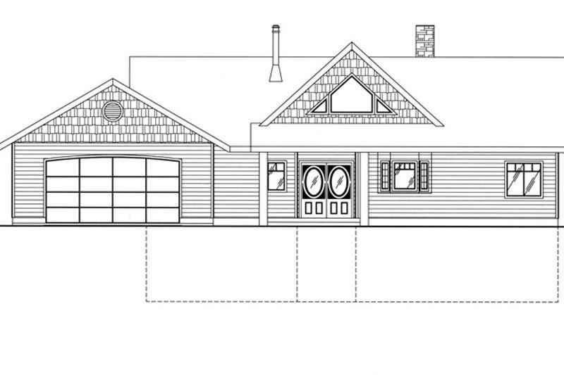 Ranch Exterior - Front Elevation Plan #117-838 - Houseplans.com