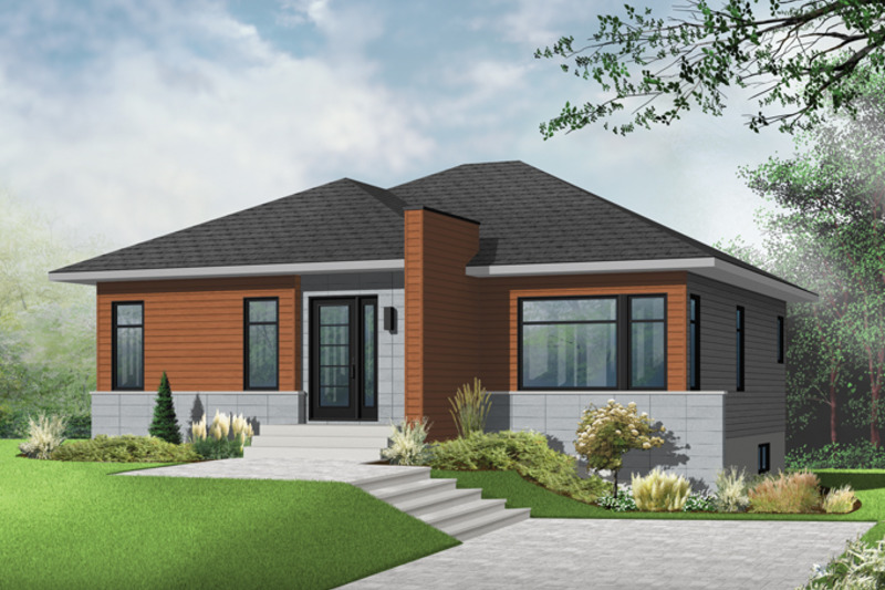 Contemporary Exterior - Front Elevation Plan #23-2571