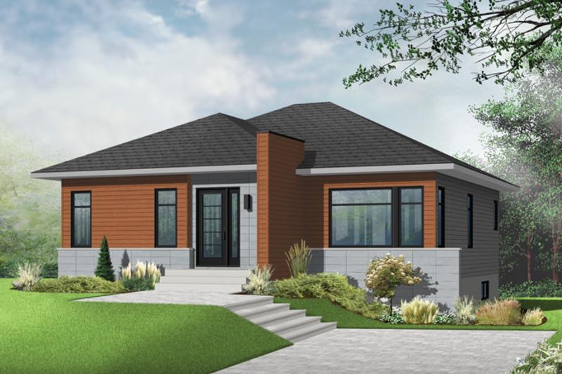 Contemporary Exterior - Front Elevation Plan #23-2571 - Houseplans.com