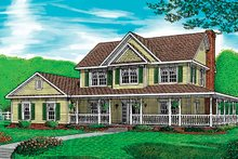 Home Plan - Country Exterior - Front Elevation Plan #11-251