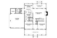Colonial Floor Plan - Main Floor Plan Plan #137-145