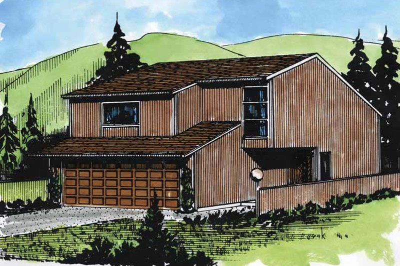 Contemporary Exterior - Front Elevation Plan #320-777
