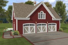 Home Plan - Craftsman Exterior - Front Elevation Plan #56-673