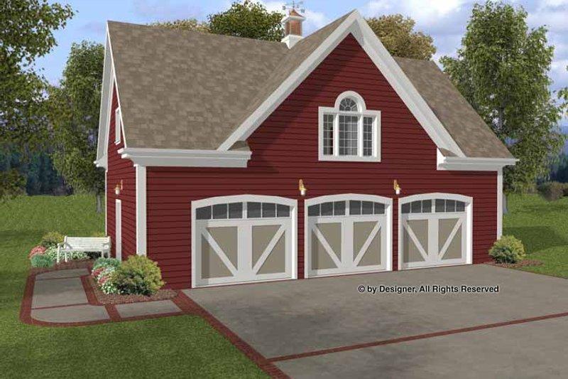 Craftsman Exterior - Front Elevation Plan #56-673 - Houseplans.com