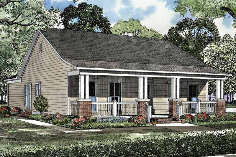 Country Exterior - Front Elevation Plan #17-3147 - Houseplans.com