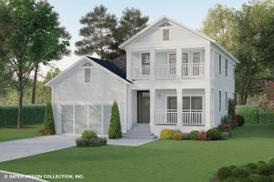 Southern Exterior - Front Elevation Plan #930-496