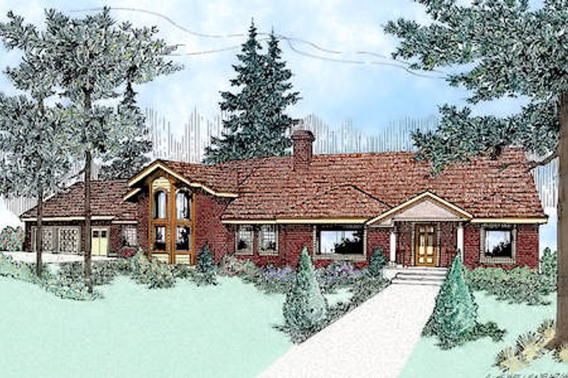 Traditional Exterior - Front Elevation Plan #60-228