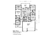 European Floor Plan - Main Floor Plan Plan #310-1307