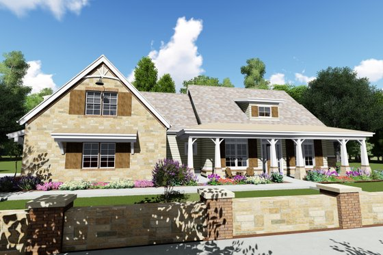 Farmhouse Exterior - Front Elevation Plan #1069-2