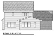 Traditional Style House Plan - 4 Beds 2.5 Baths 2325 Sq/Ft Plan #70-663 Exterior - Rear Elevation