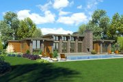 Ranch Style House Plan - 3 Beds 2.5 Baths 2557 Sq/Ft Plan #48-933 Exterior - Rear Elevation