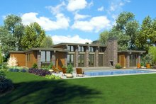 House Plan Design - Ranch Exterior - Rear Elevation Plan #48-933