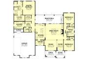 Ranch Style House Plan - 3 Beds 2.5 Baths 2330 Sq/Ft Plan #430-211 Floor Plan - Main Floor Plan