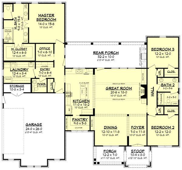 Ranch Floor Plan - Main Floor Plan Plan #430-211