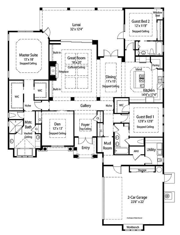 Country Floor Plan - Main Floor Plan #938-48
