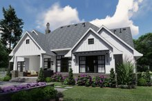House Plan Design - Farmhouse Exterior - Rear Elevation Plan #120-259