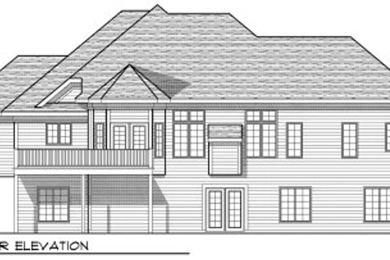 European Exterior - Rear Elevation Plan #70-803 - Houseplans.com