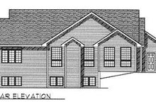 Dream House Plan - Traditional Exterior - Rear Elevation Plan #70-446