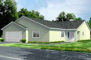Ranch Style House Plan - 4 Beds 3 Baths 2091 Sq/Ft Plan #1-991 Exterior - Front Elevation