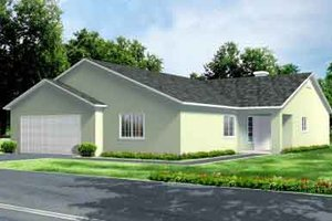 Ranch Exterior - Front Elevation Plan #1-991