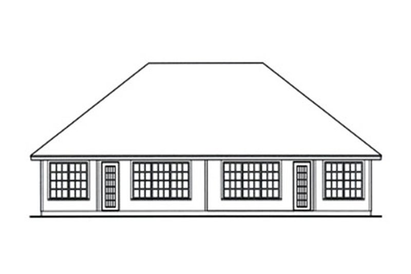 Traditional Exterior - Rear Elevation Plan #42-375 - Houseplans.com