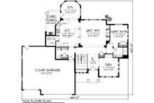 Traditional Floor Plan - Main Floor Plan Plan #70-1088