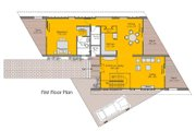 Modern Style House Plan - 3 Beds 3 Baths 3721 Sq/Ft Plan #467-2 Floor Plan - Main Floor Plan