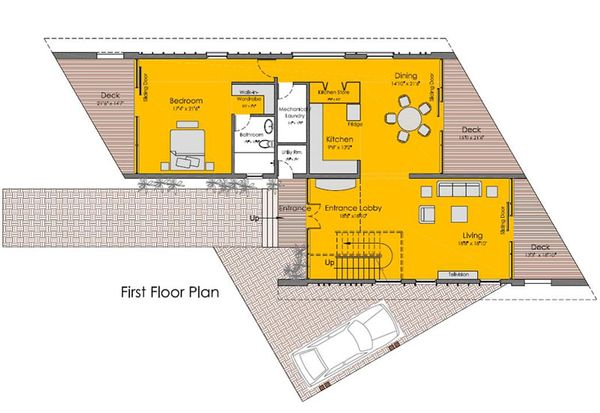 Modern Floor Plan - Main Floor Plan Plan #467-2