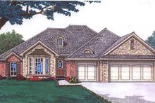 House Plan Design - European Exterior - Front Elevation Plan #310-682
