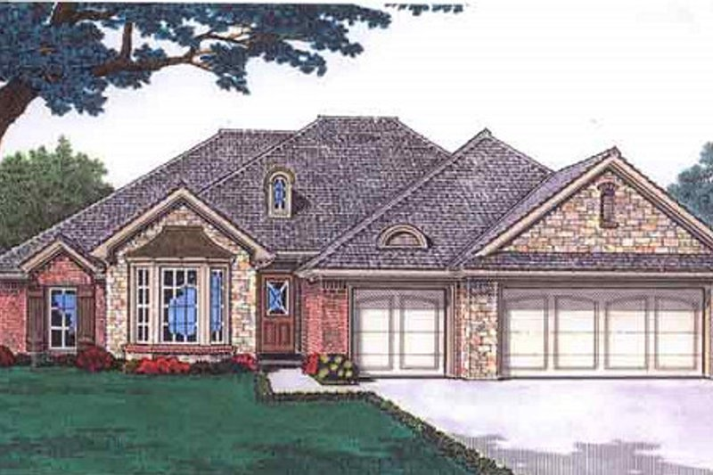 Dream House Plan - European Exterior - Front Elevation Plan #310-682