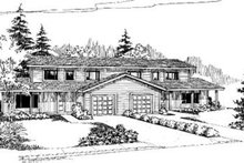 House Design - Traditional Exterior - Front Elevation Plan #60-371